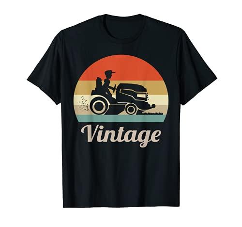Rasenmäher Rasenmähen Gärtner Garten Rasentraktor Vintage T-Shirt
