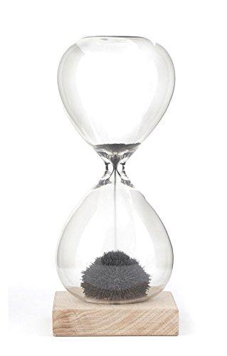 Kikkerland Magnetische Stundenglas, Braun, 16,5 x 7,1 x 7,1 cm