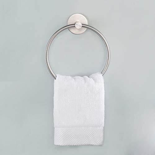 Amazon Brand - Umi Handtuchhalter Ohne Bohren Handtuchring Bad Handtuch Halter Badetuchhalter Edelstahl SUS304 Ring Selbstklebend Küche Wandmontage Gebürstet, A2180DM-2