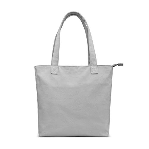 YKN Canvas Tote bag,Reusable Large Bags with Separate Packaging,Multi-purpose Blank Canvas Bags, Use for Grocery Bags,Book Bags,Shopping Bags,Craft DIY Drawing,Gift Bags,Travel Tote Bag (Grey)