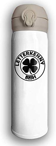 Bestqe Letterkenny-irish Botellas de agua de acero inoxidable con aislamiento al vacío de doble pared Taza de viaje Termo de agua 17 Oz