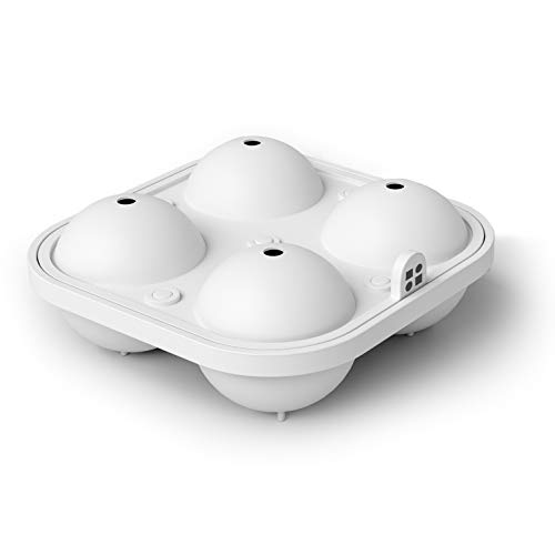 glacio Large Sphere Ice Mould Tray - Whiskey Ice Sphere Maker - Makes 2.5...