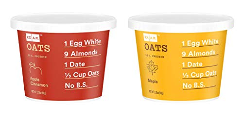 RXBAR RX Oats 2 Flavors Variety Pack 218oz Cups 8 Total Gluten Free Oatmeal Cups 4 Apple Cinnamon and 4 Maple 2 Flavors Variety