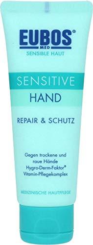 Eubos Sensitive Hand Repair & Schutz Creme Spar-Set 2 x 75 ml Gegen trockene und raue Hände Hygro-Derm-Faktor, Vitamin Pflegekomplex