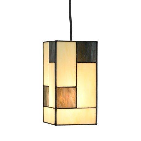 Geometrical Tiffany Hanging lamp Light Mondrian small square