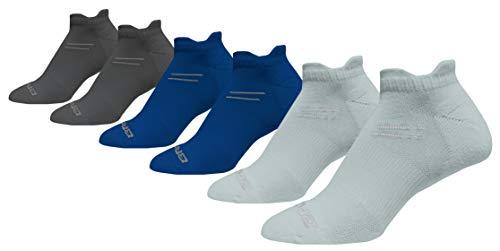 Brooks Running Socks Run in Three 6-Pack Assorted Colors Small