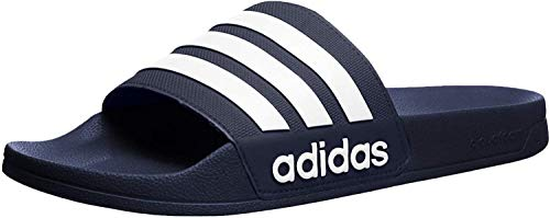 adidas Men's Adilette Shower Mule, FTWR White/Collegiate Navy, 14 Standard US Width US