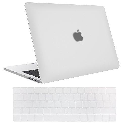 "ProCase Funda para MacBook Pro 13 A1989 A1706 A1708 A2159 (2019 2018 2017 2016),Carcasa Dura Ultra Delgado y Protector de Teclado para MacBook Pro 13"" con/sin Touch Bar y Touch ID –Translúcido Mate"