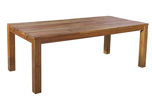 GRASEKAMP Qualität seit 1972 Rustikaler Holztisch 200x100 cm Natur mit Schutzhülle
