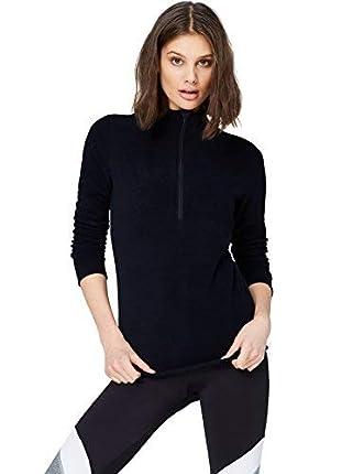 Activewear Sudadera de Forro Polar con Cremallera Mujer, Negro (Black), 42 (Talla del Fabricante: Large)