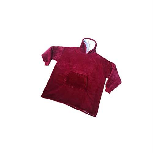 YANGPANGZI Neue TV faul Schaufensterpuppe TV Decke im Freien kalt warmes Kleid mit Kapuze Fleece warme Pyjamas