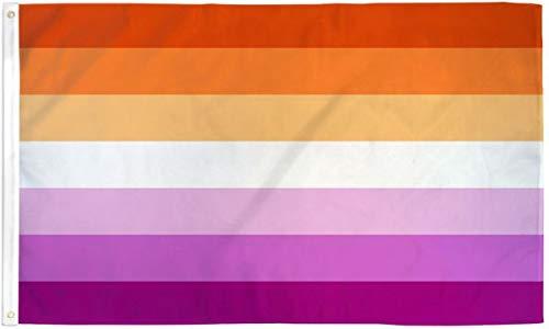 Lesbian Sunset Pride Flag - 2x3ft Polyester - Lesbian LGBT Pride w/Sunset Gradient Colors