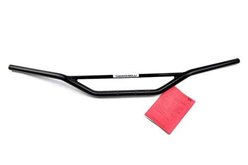 Tommaselli Enduro-Cross Lenker mit Teilegutachten (B = 89 cm, Schwarz, flache Strebe) für Simson S50, S51, S53, S70