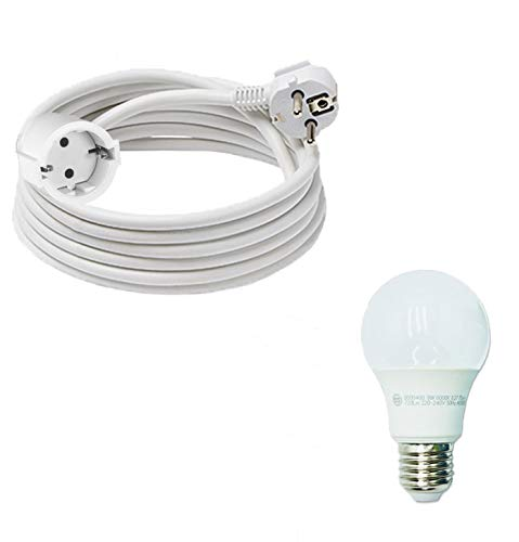 Pack » Cable alargador de luz | Color Blanco de 3 x1,5...