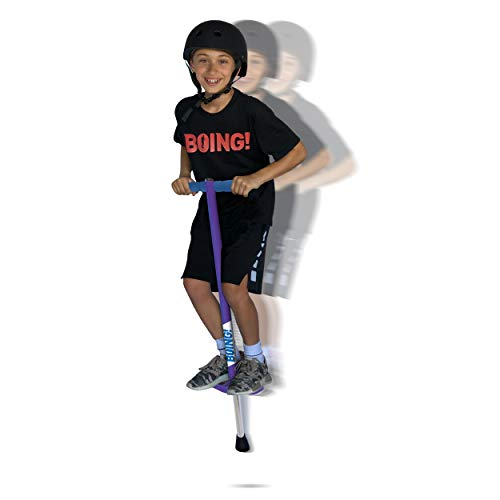 Geospace Jumparoo Boing! JR. Pogo Stick by Air Kicks, Small for Kids 50 to 90 Lbs (Purple)