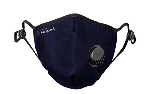 Livinguard waschbare und wiederverwendbare 3-lagige Stoff-Gesichtsmaske für Männer und Frauen, 1 Stück