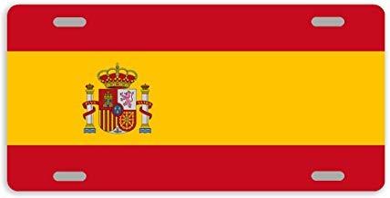 Dant454ty Bandera de España, Placa Frontal Decorativa de Metal para m