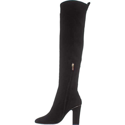 DKNY Frauen Sloane Pumps Rund Leder Fashion Stiefel Schwarz Groesse 5 US /35.5 EU