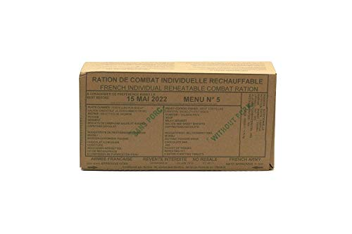 New FRENCH MRE Army Ration Meal Ready To Eat Emergency Food Supplies Genuine RCIR (Menu 11)