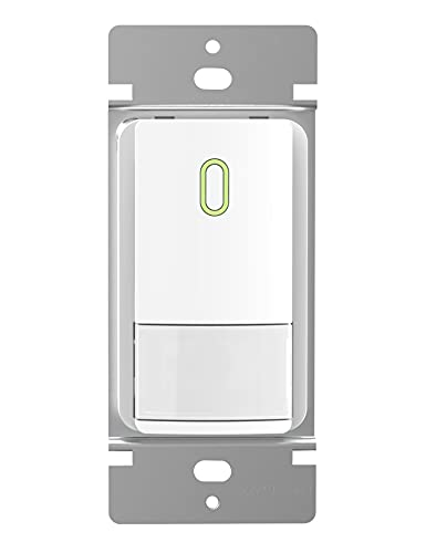 AIDA Motion Sensor Light Switch Occupancy Sensor PIR Infrared Motion Activated Wall Switch, No Neutral Wire Needed, Single Pole or Two Location Control for CFL/LED/Incandescent Bulb