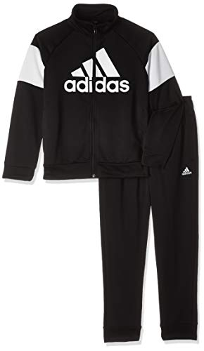 adidas Jungen Badge of Sport Trainingsanzug, Black/White, 128