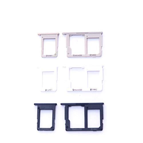 Buen Estado For Micro Bandeja Ranura For Tarjetas SD Samsung Galaxy J5 J7 Primer G570 G570F Primer G610 G610F teléfono Original alojamiento de la Bandeja de Nueva SIM Tarjetas. (Color : 2 sim White)