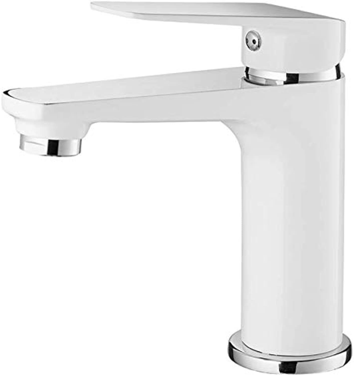 Basin Mixer Tap Bath Fixtures Wash Basinsinkkitchen Washbasin, Faucet, Copper, Semi Baking, Single Hole, Single Handle, Cold and Hot Faucet.