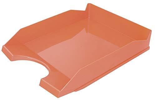 OFFICE PRODUCTS 18016021-07 Briefkorb für den Schreibtisch, Polystyrene/PP, A4, orangenfarbig