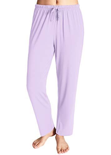 Latuza Women's Knit Loungewear Pajama Pants L Purple