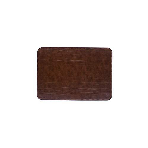 Vade de escritorio para oficina y alfombrilla para ordenador portátil, de piel artesanal – Fabricado en Italia | FP piel – Ser Brunetto (marrón, 50 x 35 cm)