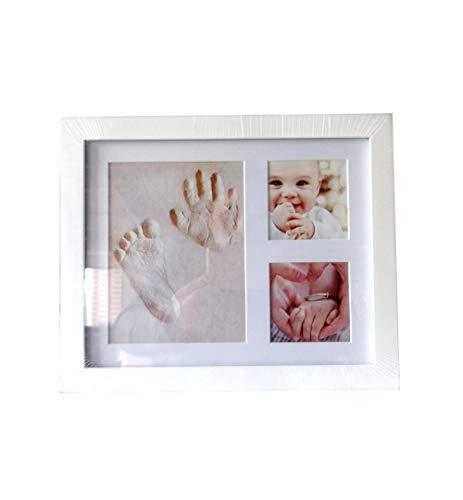 Baby hand en voet fotolijst, baby inkt hand en voet print, baby haar herdenkingsfoto frame, muur en ruimte voor kinderkamer