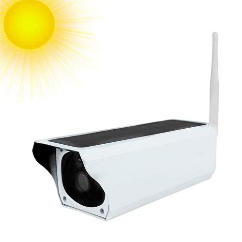 1080P Videocamera di Sorveglianza, Telecamera IP a Energia Solare, 2MP Wireless Outdoor Telecamera bullet di sorveglianza impermeabile con sensore di movimento PIR