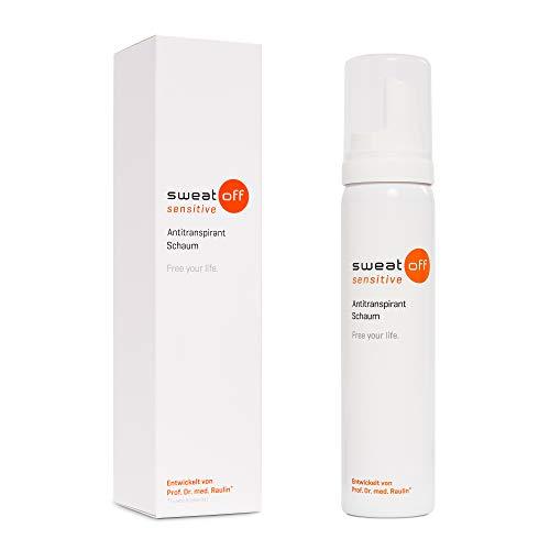 Sweat-Off sensitive Antitranspirant Schaum 75ml gegen Schwitzen | Schaum gegen Schweiß | Antiperspirant für empfindliche Haut