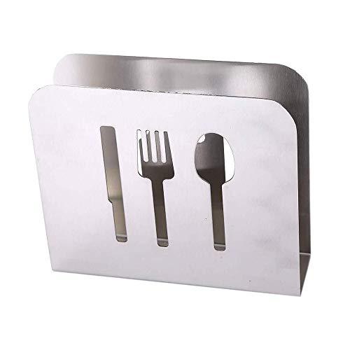 GUOQIAO Servilletero de acero inoxidable con dispensador de papel para mesa de comedor o cocina