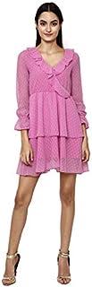 altmoda Women's Ruffle Midi Dress