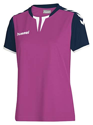 Hummel Damen Trikot Core Short Sleeve Jersey, Rose Violet/Marine, XL