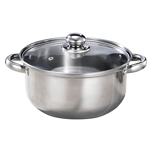 Cabilock Olla de Vapor de Acero Inoxidable Olla de Sopa Olla de Cocina Multifuncional Olla de Sopa de Vapor 22Cm