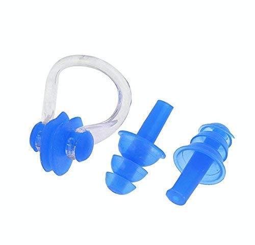 xtrafast Nasenklammer zum Schwimmen - verhindert Wasser in der Nase - leicht aufsetzbar - kein Drücken - wasserdicht aus Silikon - Nasenklemme mit Aufbewahrungsbox inklusive Ohrstöpsel