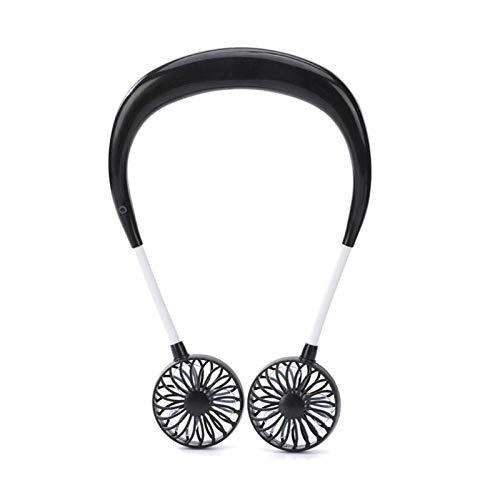 USB Oplaadbare 3 Gears Draagbare Draagbare Ventilator Handsfree Hang Mini Sport Ventilator Luchtkoeler, 1 exemplaar