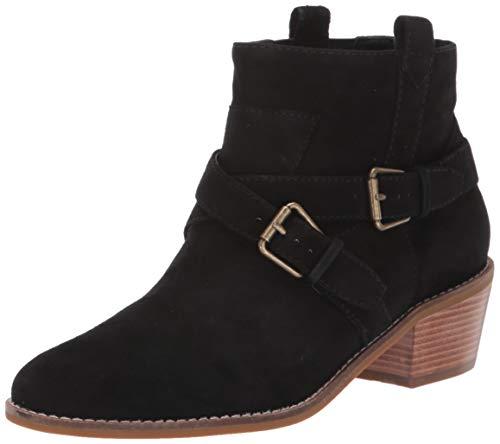 Cole Haan Women's Jensynn Bootie Ankle Boot, Black Suede/Antique, 10 B US