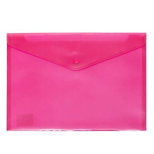 Grafoplás 04871254-Sobre plástico tamaño folio color rosa