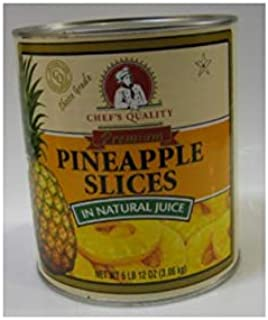 Chef's Quality - Sliced Pineapples in Light Syrup 6 lb 12 oz can