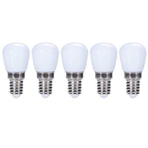 ZFQ Mini E14 LED Birne 3 Watt 300 Lumen 3000K Warmweiß, Kühlschrank/Dunstabzugshaube/Nähmaschine Licht Ersatz, Kleine Nachtlicht für Schlafzimmer Veranda Salz Leuchtturm Lampe, Plastik, AC 220-240V