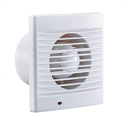 Extractor de Aire Silencioso 120mm con Interruptor de Cuerda - Bajo Consumo Ventilador de Baño para Sótano, Garaje, Volumen de Aire: 240m³ / h - 16w
