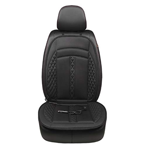 LIAOTI 12V Car Heat Seat Cushions Cover Pad Winter Warmer Heated Seat Cover Car Truck Home Office Black