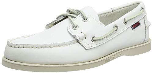 Sebago Docksides Portland, Náuticos para Hombre, Blanco (White 911), 44 EU