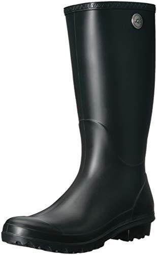 UGG Women's Shelby Matte Rain Boot, black, 12 M US