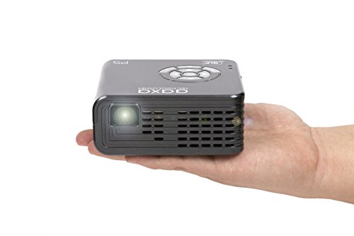 AAXA P5 LED Portable Pico Projector, 300 Lumen, 1280x720P HD Resolution, 135 Min Battery, 20,000 Hour LED, Media Player, Business