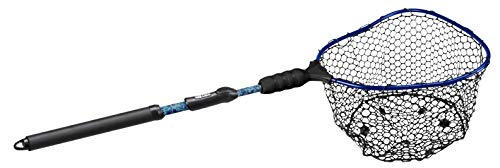 EGO S2 Kryptek Slider Fishing Net, Ultimate Fishermen's Tool Compact 2 Year Warranty, 18-36' Handle, Rubber MESH, 17'X19' HOOP