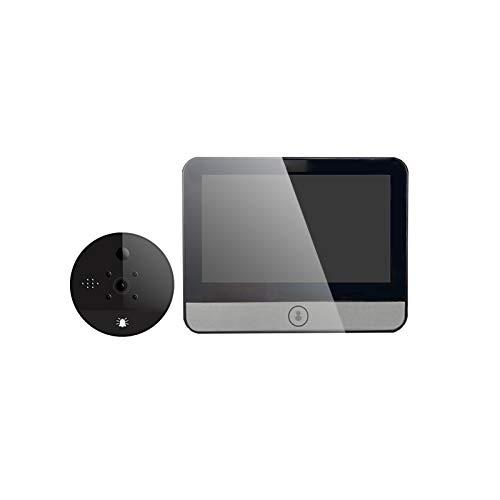 YLXD WiFi Video Portero para Uso en el Hogar, Videoportero Timbre de Video, Mirilla Digital de Puerta, LED HD Mirilla Electronica Timbre,Seguridad de Casa/Oficina/Hotel